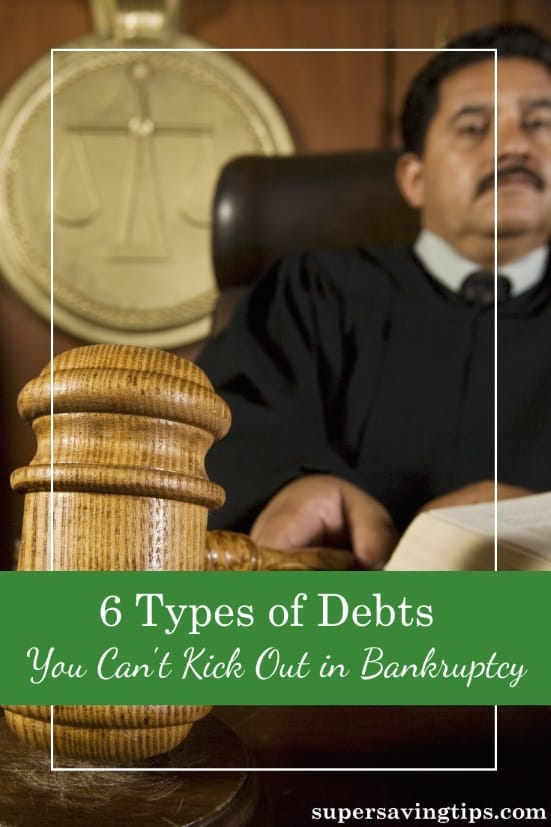 There are many types of debt that can be discharged through bankruptcy, but before you consider filing, you should know which types cannot be discharged.
